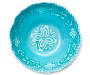 Turquoise Medallion Melamine Serving Bowl Top View Silo