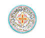 Turquoise Patterned Medallion Melamine Salad Plate