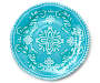 Turquoise Solid Medallion Platter Silo