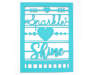 Turquoise Sparkle Shine Metal Cut-Out Sign Silo