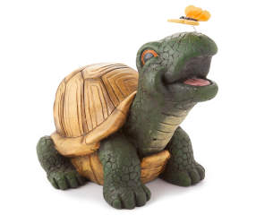 Turtle With Butterfly On Nose Garden Statuary 13 Quot Big
