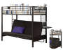 Twin Futon Bunk Bed Black Mattress Silo Image