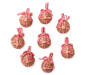 Twine Ball Ornaments with Ribbons 8-Pack Out of Package Silo