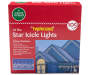 Twinkling Star Icicle Lights 10 Count in Package Silo