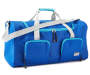 Two Tone Blue Duffle Bag with Adjustable Strap Silo Image