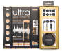 Ultra Pro Black and Gold Earbuds Whole Package Silo