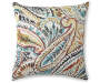 Ummi Multi Color Jacquard Throw Pillow Front View with Design Silo Image