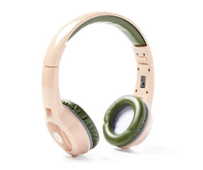 vivitar green woodgrain bluetooth headphones big lots. Black Bedroom Furniture Sets. Home Design Ideas