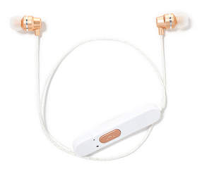 vivitar gold metallic bluetooth earbuds big lots. Black Bedroom Furniture Sets. Home Design Ideas
