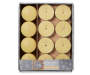 Vanilla Gingerbread Tealight and Votive Candle Set 20 Pack in Package Overhead Shot Silo Image