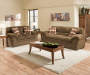 Verona Chocolate Chenile Sofa Loveseat Room View