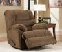 Verona Chocolate Recliner Reclined Room View