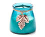 Vineyard Fruit Leaf Candle with Leaf Charm Silo Front