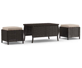 Wilson Amp Fisher Westwood 3 Piece All Weather Wicker Coffee