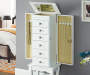 WHITE JEWELRY ARMOIRE lifestyle open