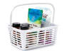 WHITE PLASTIC STORAGE BIN W HANDLE