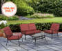 WILLOWBROOK 4PC RED CUSHION SEATING SET