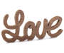 Weathered White Love Word Script Plaque silo front
