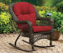 Westwood Red 2 Piece Replacement Rocker Cushion Set environment