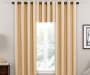 Wheat Zinnia Thermal Curtain Panel 63in lifestyle