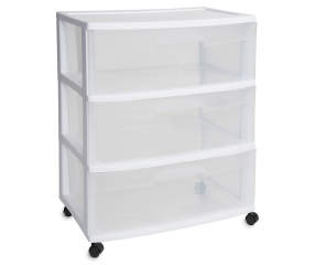 Sterilite White 3 Drawer Cart Big Lots