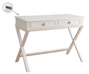 White 2 Drawer Writing Desk