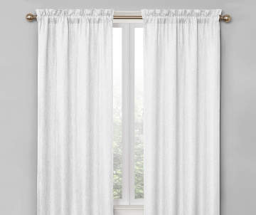 Curtains Window Treatments Big Lots - White blackout curtains