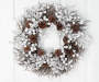 White Berry and Pinecones Glitter Wreath 20 Inches Overhead on Door Silo Image