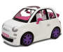 White Fiat 500 Fashion Doll Car Silo