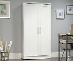 Sauder White Homeplus 2 Door Storage Cabinet Big Lots