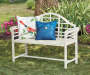 White Jasmine Metal Garden Bench
