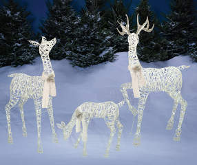 White Led Light Up Deer Family 3 Piece Set Big Lots