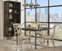 White Metal Antique Distressed Dining Chair lifestyle