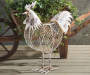 White Rooster Chicken Wire Garden Sculpture lifestyle