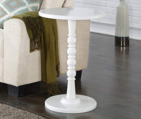 White Round Accent Table Big Lots