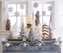 White Sequin & Fur Tree Tabletop Décor