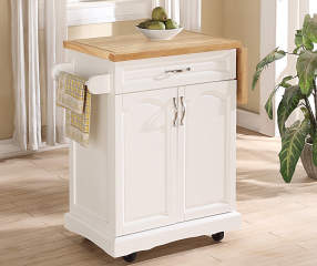 Small White Kitchen Cart With Drop Leaf Big Lots