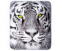 White Tiger Throw Blanket Overhead View Silo Image