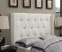 White Tufted Queen Headboard bedroom setting