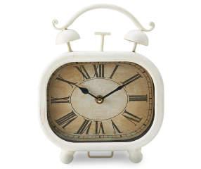 White Vintage Style Clock Big Lots