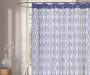 White and Blue Lafayette Shower Curtain 72 Inches On Tub Lifestyle Image