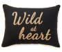 Wild at Heart Throw Pillow 13 inches x 18 inches silo front
