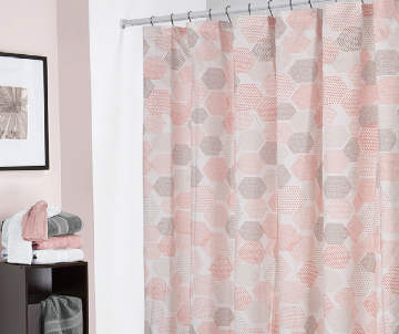 Pale Pink Shower Curtain.  8 00 Living Colors Willa Microfiber Shower Curtain Curtains Sets Big Lots