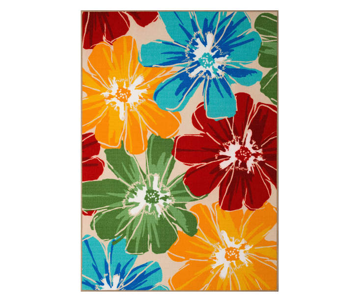 Wilson Fisher Anemone Multi Color Floral Indoor Outdoor Rugs