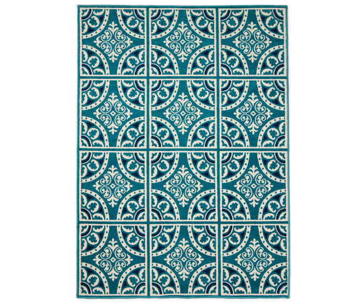 Wilson Amp Fisher Blue Abbott Indoor Outdoor Rugs Big Lots