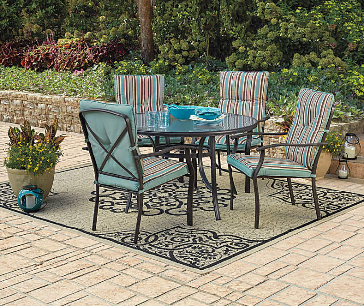 wilson fisher cushioned chair patio set big lots