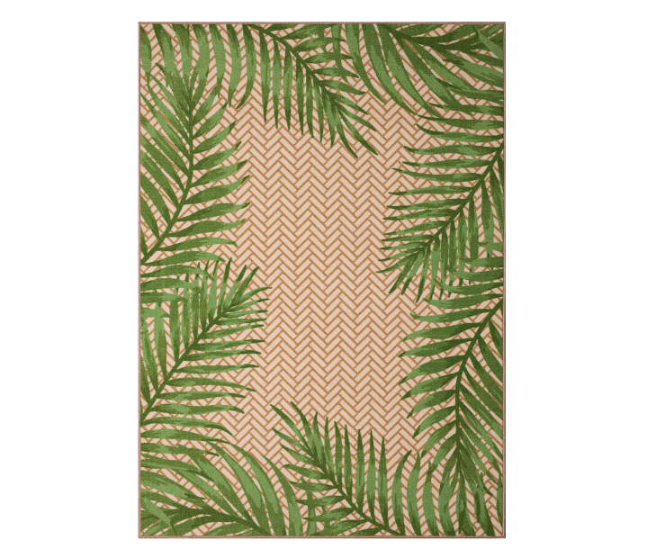 Wilson Amp Fisher Green Amp Tan Palm Leaves Indoor Outdoor