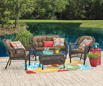 Wilson Amp Fisher Lakeview Resin Wicker 5 Piece Patio Chat