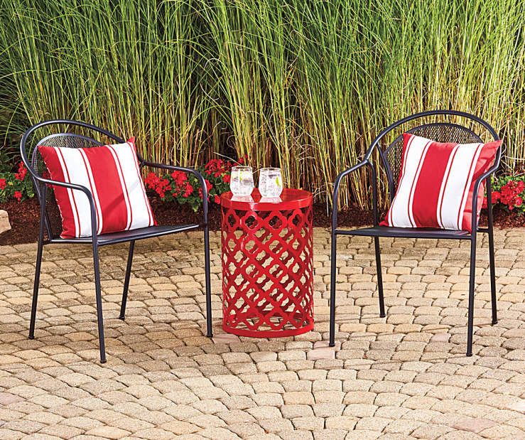Wilson Fisher Metal Mesh Stack Chair Garden Drum Collection Big Lots