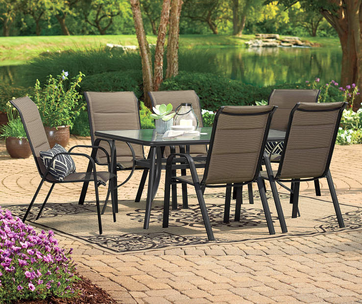 Wilson Fisher Mix Match Aspen Patio Chair Black Gl Rectangle Dining Table Lots